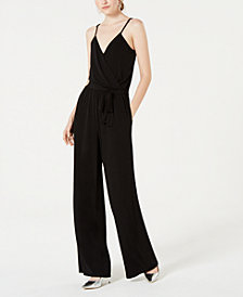 Crystal Doll Juniors' Surplice Jumpsuit