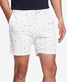 "Tommy Hilfiger Men's Palm-Print Stretch 9"" Shorts"