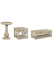 Finley Table Furniture 3-Pc. Set (Coffee Table, End Table & Round End Table)