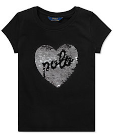 Polo Ralph Lauren Big Girls Sequin Graphic Cotton T-Shirt