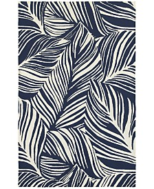 CLOSEOUT! Tommy Bahama Home   Atrium Indoor/Outdoor 51105 Blue/Ivory 5' x 8' Area Rug