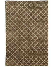 """Tommy Bahama Home  Maddox 56503 Brown/Blue 3'6"""" x 5'6"""" Area Rug"""
