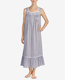 Eileen West Petite Cotton Chambray Ballet Nightgown