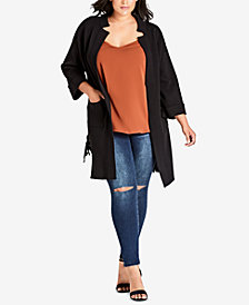 City Chic Plus Size Entice Me Cardigan