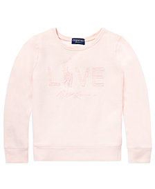 Polo Ralph Lauren Big Girls Pink Pony Fleece Sweatshirt