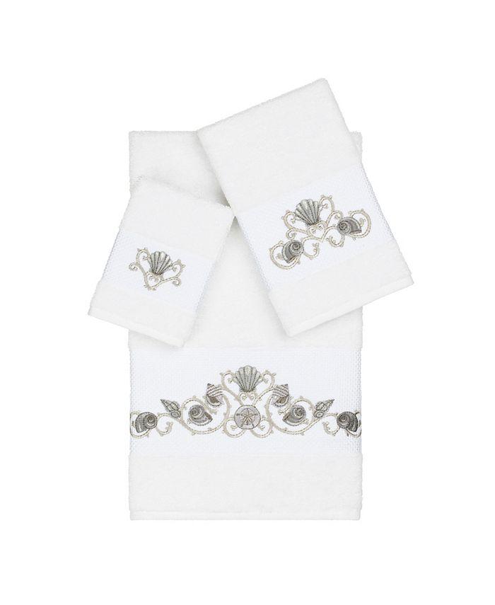 Linum Home - Bella 3-Pc. Embroidered Turkish Cotton Towel Set