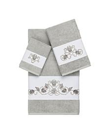Bella 3-Pc. Embroidered Turkish Cotton Towel Set