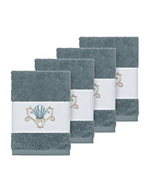 Linum Home Bella 4-Pc. Embroidered Turkish Cotton Washcloth Set