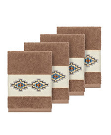 Linum Home Gianna 4-Pc. Embroidered Turkish Cotton Washcloth Set