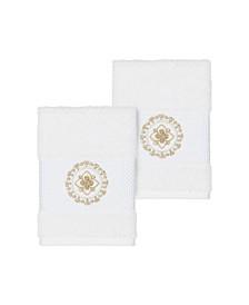 Isabelle 2-Pc. Embroidered Turkish Cotton Washcloth Set