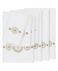 Linum Home Isabelle 8-Pc. Embroidered Turkish Cotton Bath and Hand Towel Set