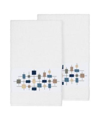 Khloe 2-Pc. Embroidered Turkish Cotton Bath Towel Set