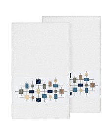 Khloe 2-Pc. Embroidered Turkish Cotton Bath Towel Set