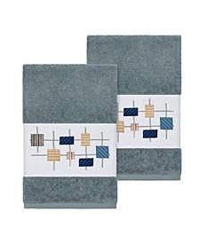 Khloe 2-Pc. Embroidered Turkish Cotton Hand Towel Set