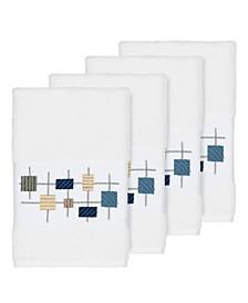 Khloe 4-Pc. Embroidered Turkish Cotton Hand Towel Set