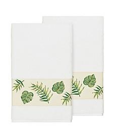 Zoe 2-Pc. Embroidered Turkish Cotton Bath Towel Set