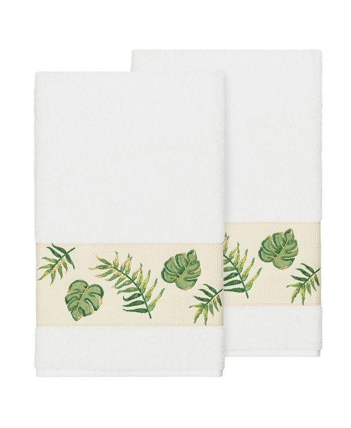 Linum Home - Zoe 2-Pc. Embroidered Turkish Cotton Bath Towel Set