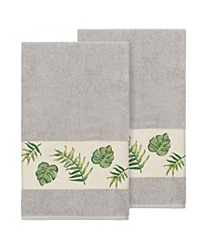 Zoe 2-Pc. Embroidered Turkish Cotton Bath Towel Set