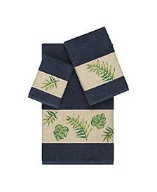 Linum Home Zoe 3-Pc. Embroidered Turkish Cotton Towel Set