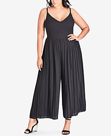 City Chic Plus Size Flare-Leg Jumpsuit