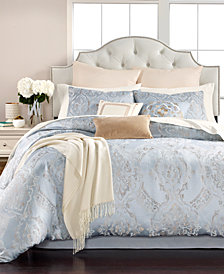 Martha Stewart Collection Metallic Medallion 14-Pc. Queen Comforter Set, Created for Macy's