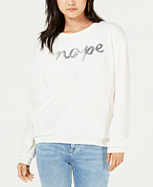 Love Tribe Juniors' Sequined-Graphic Sweatshirt