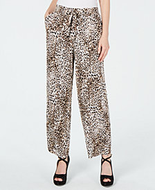 Thalia Sodi Animal-Print Soft Pants, Created for Macy's