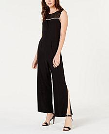 Monteau Petite Embellished Split-Leg Jumpsuit