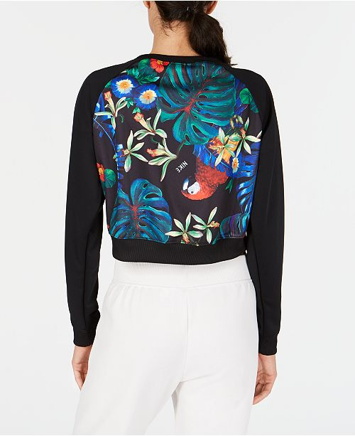99faaa4ac8cf Nike Sportswear Ultra-Femme Floral-Print Cropped Top   Reviews ...