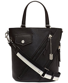 DKNY Jagger Leather Bucket Crossbody, Created for Macy's