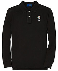 Polo Ralph Lauren Big Boys Ski Bear Long-Sleeve Cotton Polo