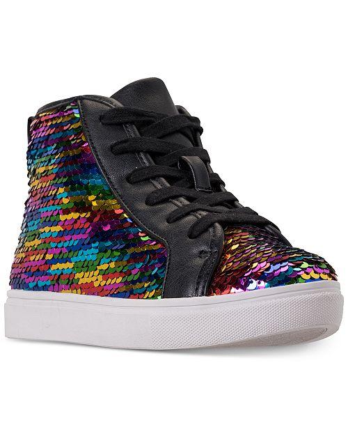 Steve Madden Little Girls' JSEEKER High Top Casual Sneakers from Finish Line
