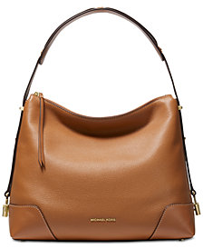 MICHAEL Michael Kors Crosby Pebble Leather Shoulder Bag