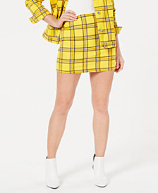 GUESS Plaid Short Skirt
