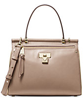 2392b91e3f8 MICHAEL Michael Kors Jasmine Polished Leather Top Handle Satchel