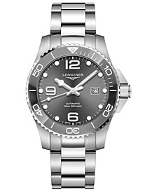 Men's Swiss Automatic HydroConquest  Stainless Steel and Ceramic Bracelet Watch 43mm