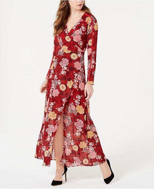 157673375b9 GUESS Elysian Faux-Wrap Maxi Dress   Reviews - Dresses - Women - Macy s