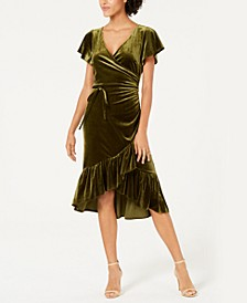 Veronica Velvet Wrap Dress