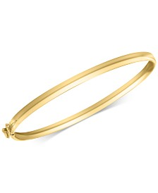 Children's Polished Bangle Bracelet in 14k Gold