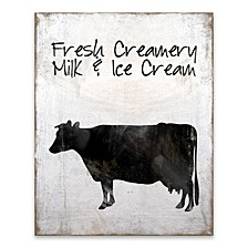 Fresh Creamery Milk and Ice Cream Wood, MDF Box