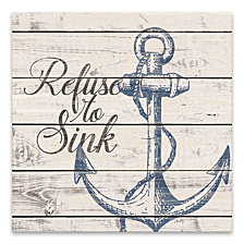 Refuse To Sink Printed Canvas