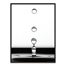 "Drops Ii Framed Printed Canvas Art - 18.875"" W x 24.875"" H x 2"" D"