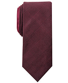 Tallia Men's Devlin Slim Plaid Tie