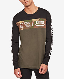 G-Star RAW Men's Long-Sleeve Colorblocked T-Shirt