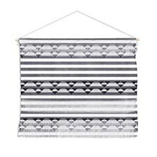 "Holli Zollinger Linen Stripe Wall Hanging Landscape, 22""x16"""