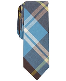 Penguin Men's Sherwood Skinny Plaid Tie