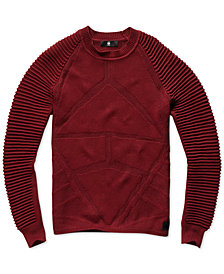 G-Star Raw Mens Suzaki Ribbed Sleeve Sweater