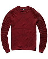 a8cd9bee4b9 G-Star Raw Mens Suzaki Ribbed Sleeve Sweater