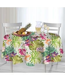 "Kona Tropics Indoor/Outdoor 70"" Round Tablecloth"