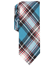 Penguin Men's Ellering Skinny Plaid Tie